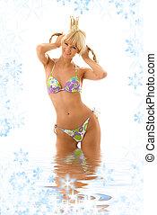 bikini princess in water