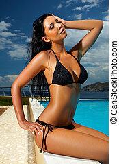 bikini, ragazza nera
