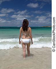 bikini, sandstrand