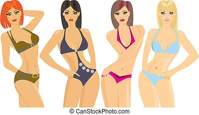 bikini, tonen
