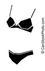 bikini vector illustration