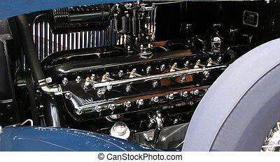 bil, årgång, motor