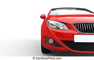 bil, 2, röd, billyktor