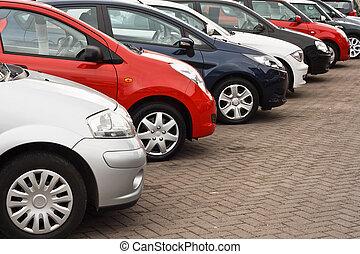 bil, använd, försäljningarna