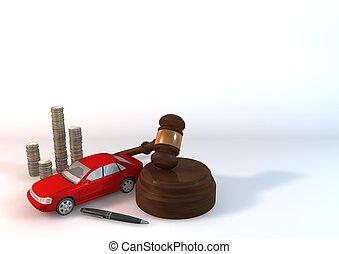 bil, bakgrund, röd, auktion, aktiva
