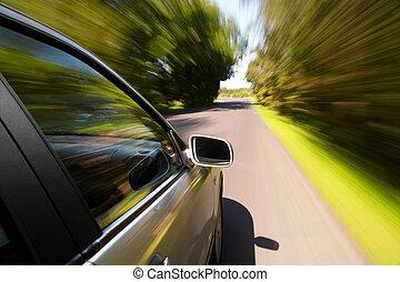bil, driva fast