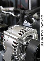 bil, elektrisk, generator