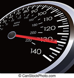bil, hastighet, meter