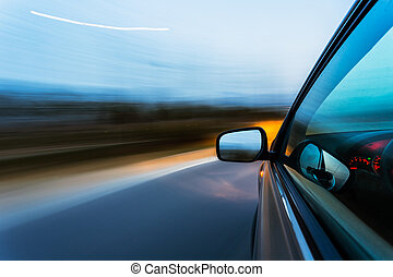 bil, hastighet