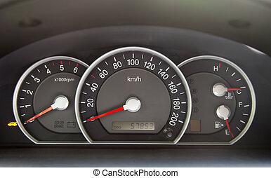 bil, hastighetsmätare