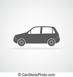 bil, icon., vektor, illustration