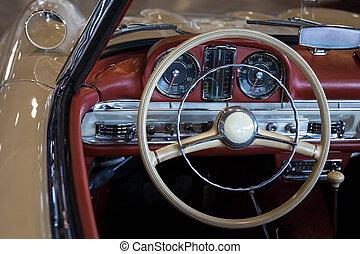 bil, instrumentbräda, årgång