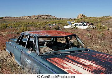 bil, kyrkogård