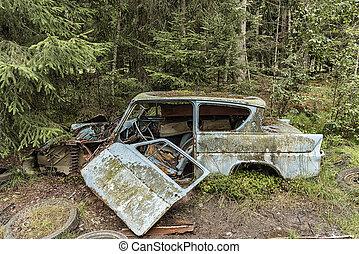 bil, kyrkogård, smaland