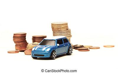 bil, leksak, uppköp