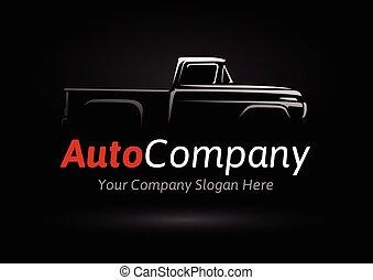 bil, logo, sports, företag, silhuett