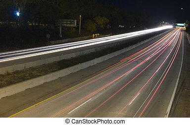 bil, lyse, visa