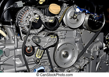 bil, motor