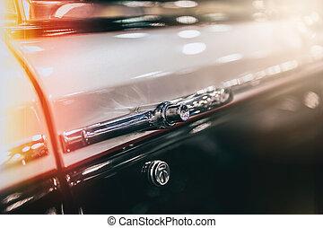 bil, närbild, årgång