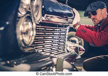 bil, passionerad, klassisk