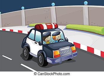 bil, polis