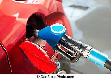 bil, pump, gas