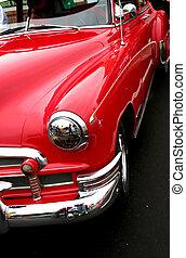 bil, röd, klassisk