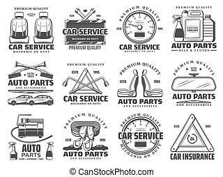 bil service, bil benar, reservdel, diagnostik, reparera
