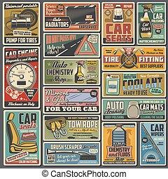 bil service, stämmande, särar, reservdel, reparera, bil