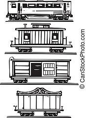 bil, tåg, kollektion