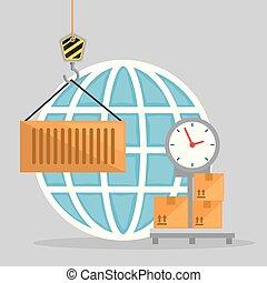 bilanciare scala, servizio, logistico