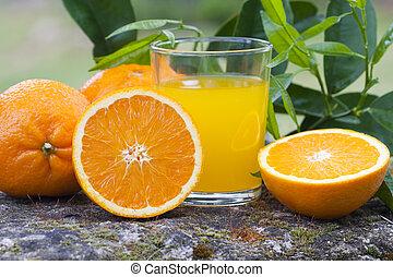 bilanciato, arancia, salute, succo, dieta