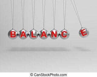 bilanciato, sfere, vita, equilibrio, mostra