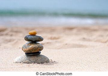 bilanciato, zen, pietre