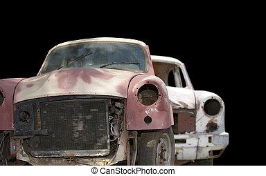 bilar, övergiven