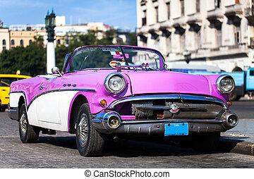 bilar, amerikan, historisk, Kuba