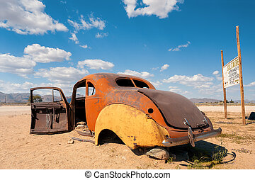 bilar, solitär, afrika, övergiven, namibiaer