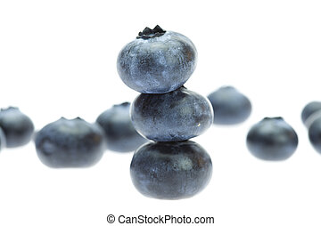 Bilberry isolated on white