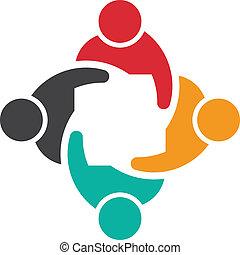 bild, 4, logo, mannschaft, versammlung