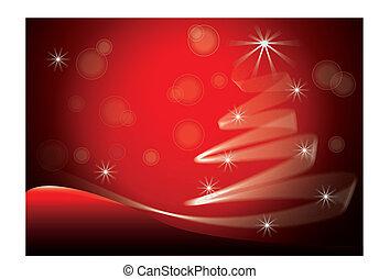 bild, baum, vektor, hintergrund, weihnachten, rotes