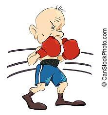 bild, boxer, karikatur