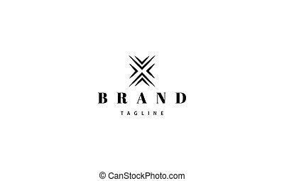 bild, brief, vektor, logo, abstrakt, x.