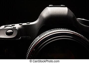 bild, dslr, professionell, schlüssel, fotoapperat, modern, ...