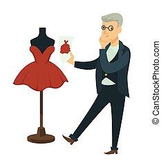 bild, entwerfer, schnuller, entwurf, bereit, compares, kleiden