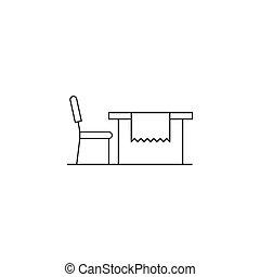 Esstisch gezeichnet  Tisch, stuhl, grobdarstellung. Grobdarstellung, hand,... Clipart ...