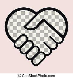 bild, hjärta, text, din, placera, eller