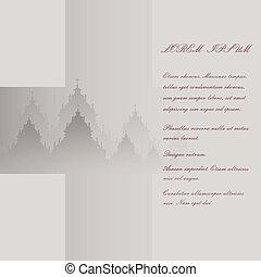 bild, kreuz, abbildung, vektor, hintergrund, tempel