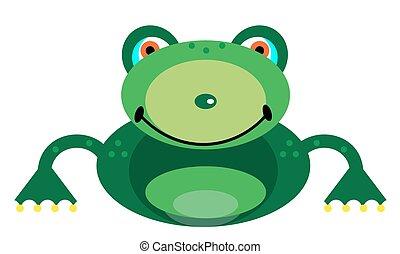 bild, lächeln, frosch
