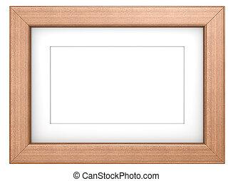 bild, mahagoni, frame.
