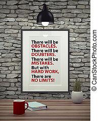 bild, motivera, frame., inspirational, citera